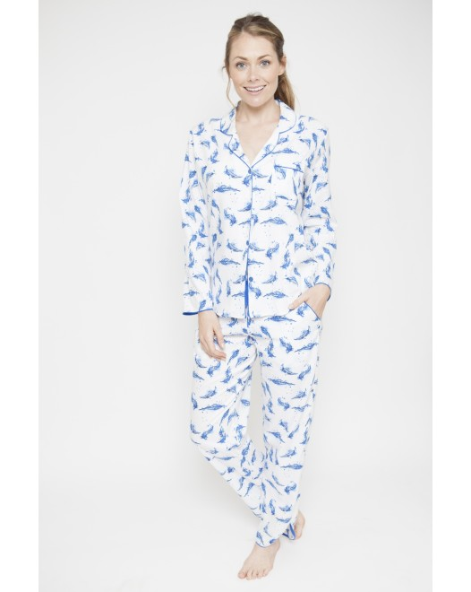Пижама женская Cyberjammies Amelia 4054|/4055 Feather Print