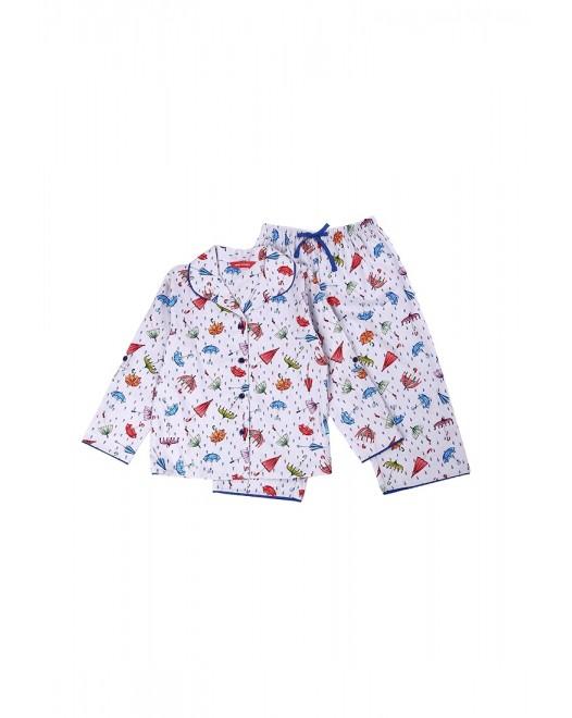 Пижама для девочки Cyberjammies Cristie 5277 Grey Mix Umbrella