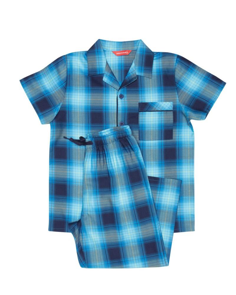 Пижама для мальчика Cyberjammies Elliot 6536 Ярко-синий в клетку