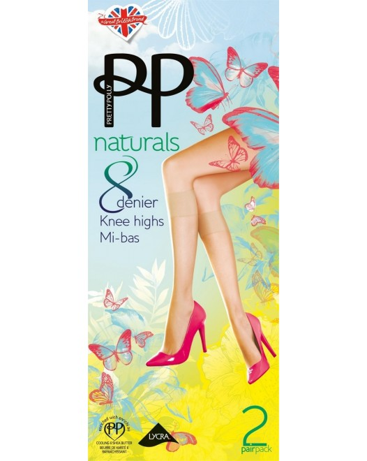 Гольфы Pretty Polly Naturals 8Den K/H 2PP PHEF24 Barely there