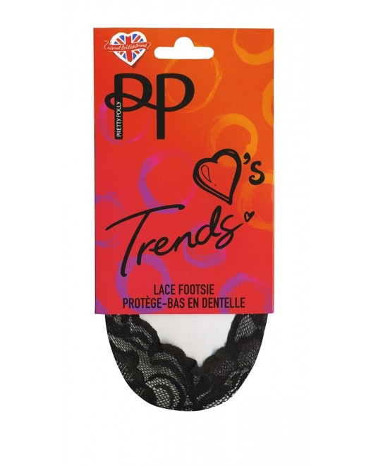 Следы Pretty Polly Lace Footsie PNASC3 Black