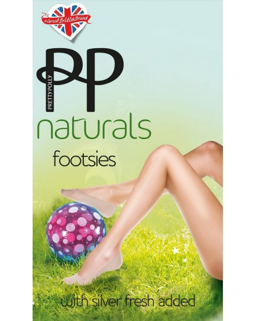 Следы Pretty Polly Naturals Footsie PNASC4 Barely there