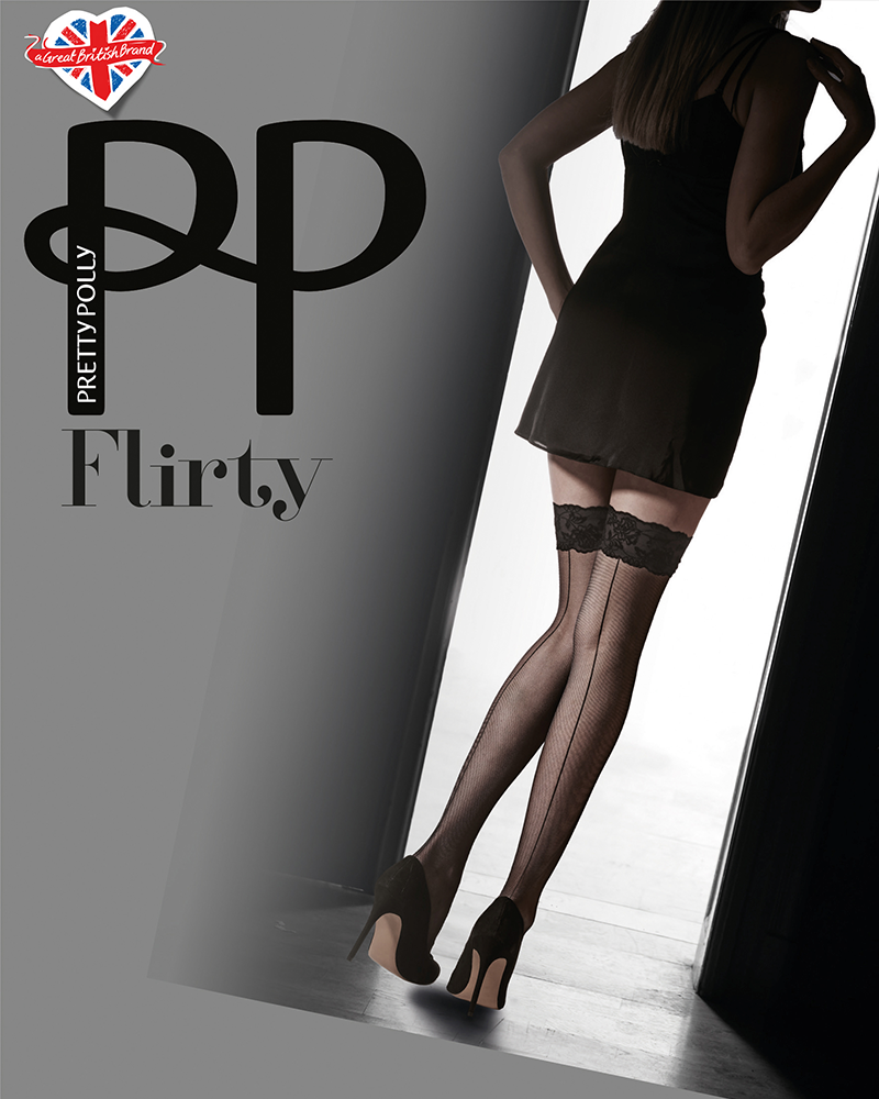 Чулки Pretty Polly Flirty PNAVR7 Nude/Black