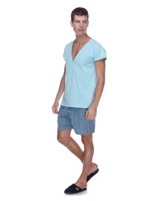 Пижама мужская Homewear MAD 19533 Turquoise
